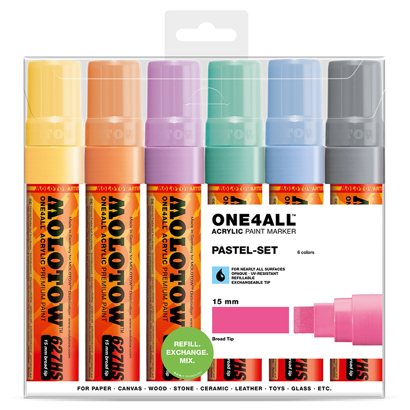Sada fixiek ONE4ALL™ 627HS Pastel-Set