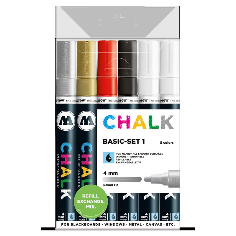 Sada fixiek Chalk Basic-Set 1 (4 mm)