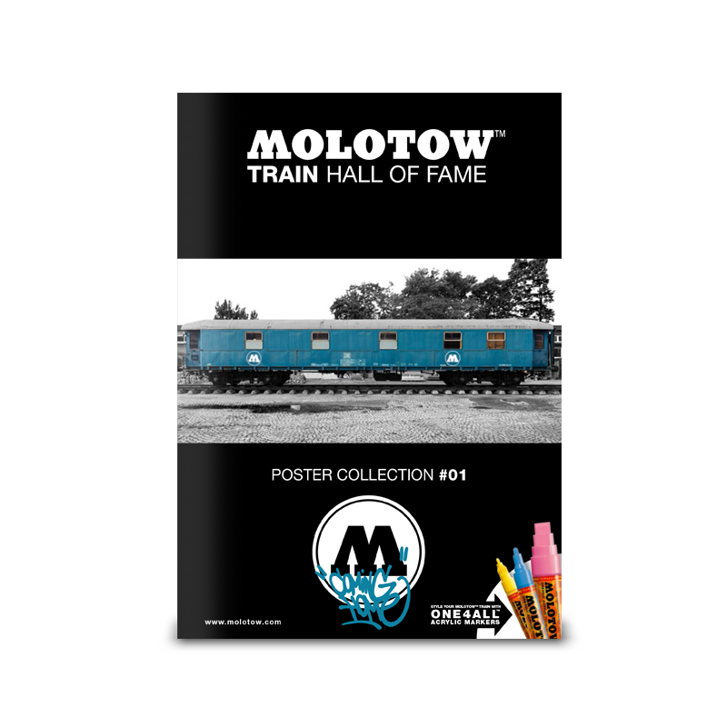 """MOLOTOW™ Train Poster #01 """"Coming Home"""""""