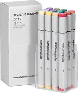 STYLEFILEMARKER 12 Brush main C set