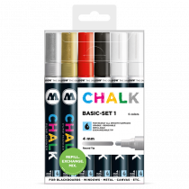 Sada fixiek Chalk Basic-Set 1 (4 mm)
