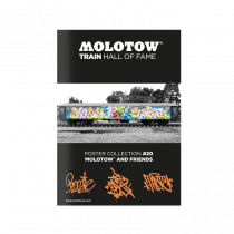 """MOLOTOW™ TRAIN Poster #20 """"MOLOTOW™ AND FRIENDS"""""""