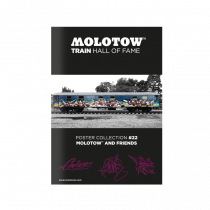"""MOLOTOW™ TRAIN Poster #22 """"GESER SLIDER KAISY"""""""