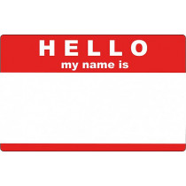 Nálepky Hello my name is