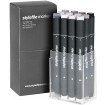 STYLEFILEMARKER 12 warm grey set