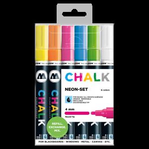 Sada fixiek Chalk  Neon-Set (4 mm)