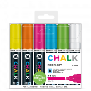 Sada fixiek Chalk  Neon-Set (4-8 mm)