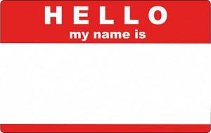 Nálepky Hello my name is