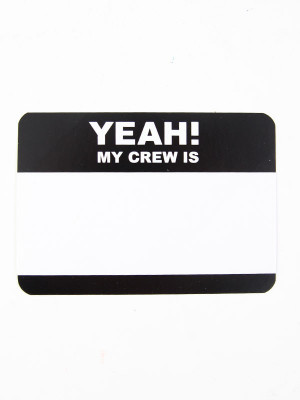 Nálepky Yeah! My Crew is